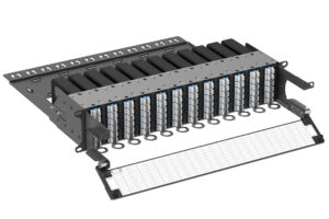 Maximize fiber density in your available rack space U-Series housings are available in 2RU, 1RU, and 0RU sizes