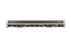 CAT5E STP 1U 24port PCB Patch Panel with Cable Manager 1