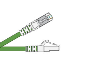 Cat 6 Unscreened PVC CM Patch Cords