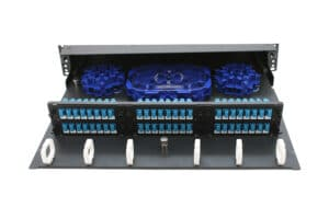L-Series AM-2RU Sliding Patch Panel Tray Pulled Out