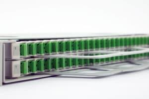 P05 1U High Density Dual Tray Pivot Panel - 48 Position SCLC up to 48 fibers 6