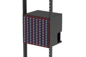 Port Mapping 10U Vertical Patch Cabinet Rack 1024f Mountable for 8x Panels 3