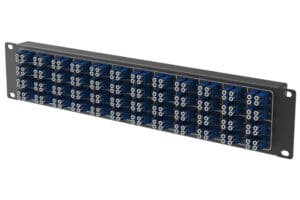 Port Mapping 2U Horizontal Patch Panel with 192F Mountable for 19 racks 2