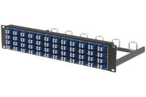 Port Mapping 2U Horizontal Patch Panel with 192F Mountable for 19 racks 3