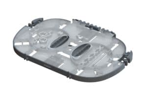SPT06 hinged splice tray for 12 or 24 fibers 2