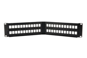 UTP 2U 48 Port Angled Keystone Patch Panel Unloaded With Cable Manager 1