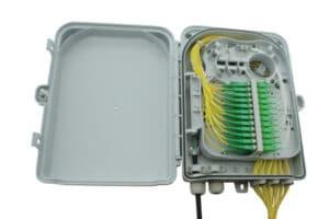 W31 IndoorOutdoor Lockable Wall Box - 24 Fibers - SC Adaptors 2