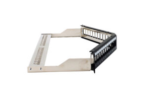 CAT6 STP 1U 24port Angled Tooless Keystone Jack Patch Panel with Cable Manager 1